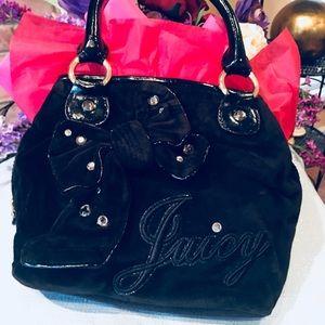 Juicy Couture velvet black evening bag